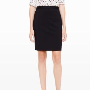 Club Monoco Black Pencil Fitted Business Mid Skirt